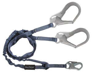 8259Y3 6' Internal Energy Absorbing Lanyard, Double-leg with Steel Connectors