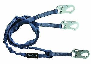 8259Y 6' Internal Energy Absorbing Lanyard, Double-leg with Steel Snap Hooks