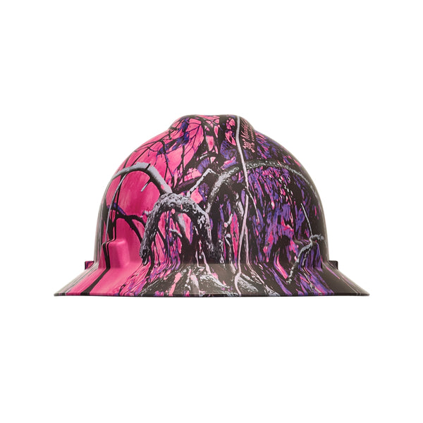 MSA 10204779 MUDDY GIRL V-GARD HYDRO DIP HARD HAT WITH FAST TRAC III