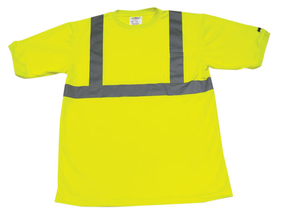 Iron Wear Hi-visibility Waffle Shirt Short Sleeve With Striping Style 1200-L-TP