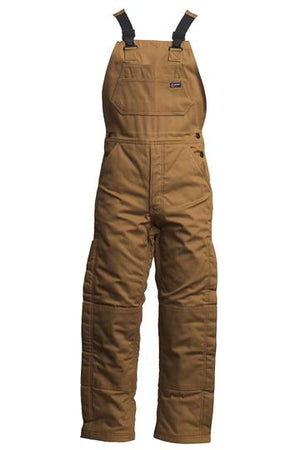 LAPCO BIFRBRDK 12-Ounce Duck Flame Resistant Insulated Bib Overall, Brown