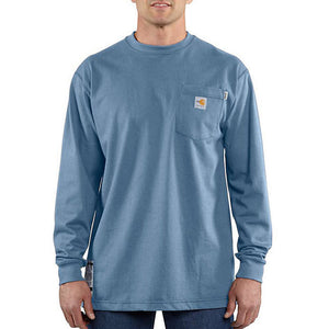 Men's Carhartt FR Force™ Long Sleeve Cotton T-Shirt - Medium Blue