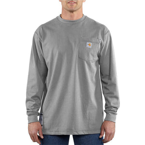 Men's Carhartt FR Force™ Long Sleeve Cotton T-Shirt - Gray