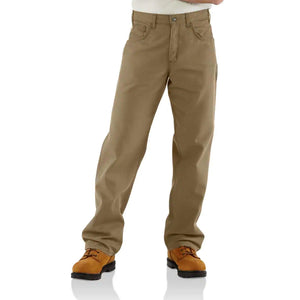 Men's Carhartt FR Original Loose Fit Midweight Canvas Pants - Khaki