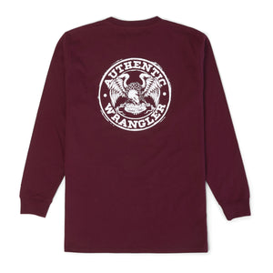 WRANGLER® FR FLAME RESISTANT LONG SLEEVE GRAPHIC T-SHIRT IN WINE