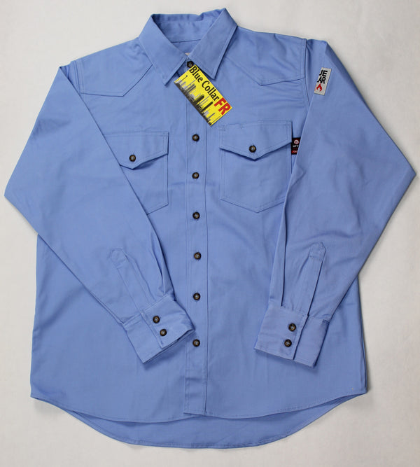 Blue Collar FR Artic Blue Work Shirt