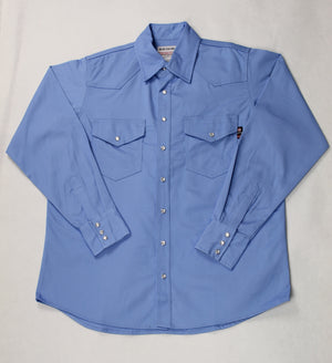 Blue Collar FR Artic Blue Snap Work Shirt