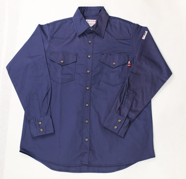 Blue Collar FR Navy Work Shirt
