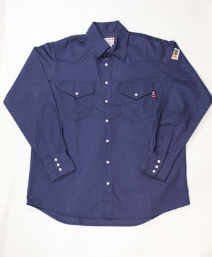 Blue Collar FR Navy Snap Work Shirt