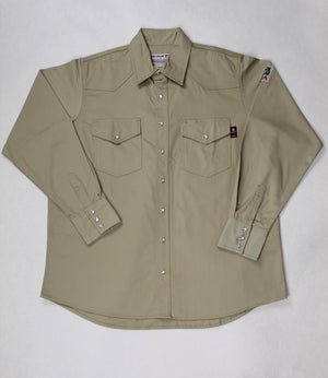 Blue Collar FR Khaki Snap Work Shirt