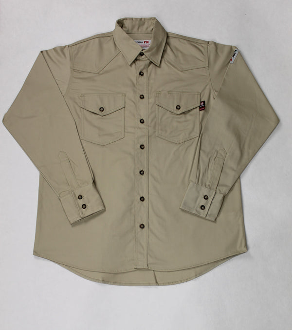 Blue Collar FR Khaki Work Shirt