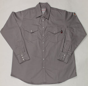 Blue Collar FR Light Grey Snap Work Shirt