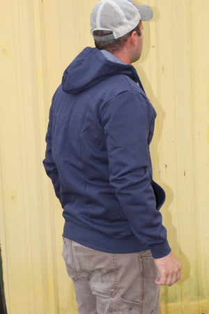 Blue Collar FR Hoodie with Zipper  - Navy