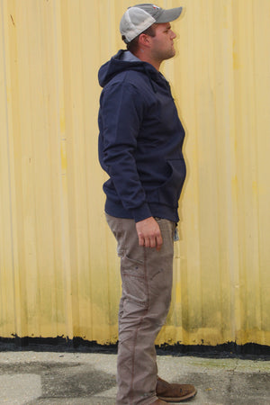 FR Hoodie with Zipper  - Navy