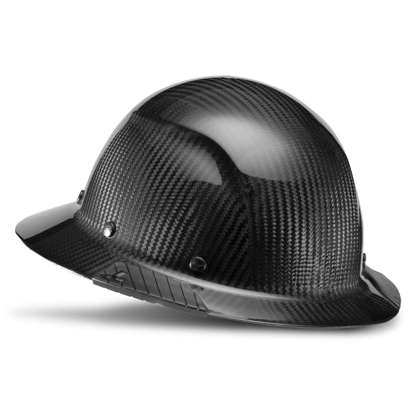 Dax Carbon Fiber Hard Hat Full Brim - Gloss Black