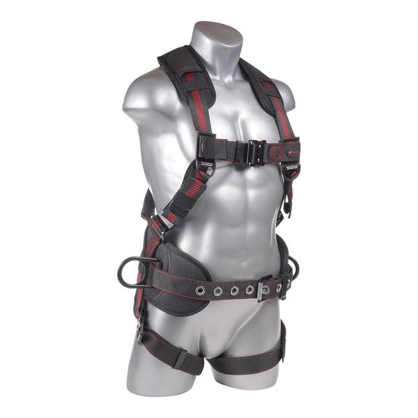 KStrong® Kapture™ Epic 5-Point Full Body Harness, Padded, 3 D-Rings, QC Chest and Legs (ANSI) UFH10331P