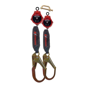 UFS354002D KStrong® Dual 6 ft. Micron™ SRL Assembly with rebar hooks (ANSI). Includes connector to attach to harness.