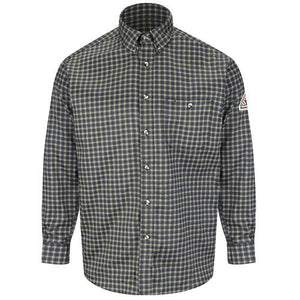 Bulwark Plaid Dress Shirt -SLG8 EXCEL FR® ComforTouch® - 6.5 oz