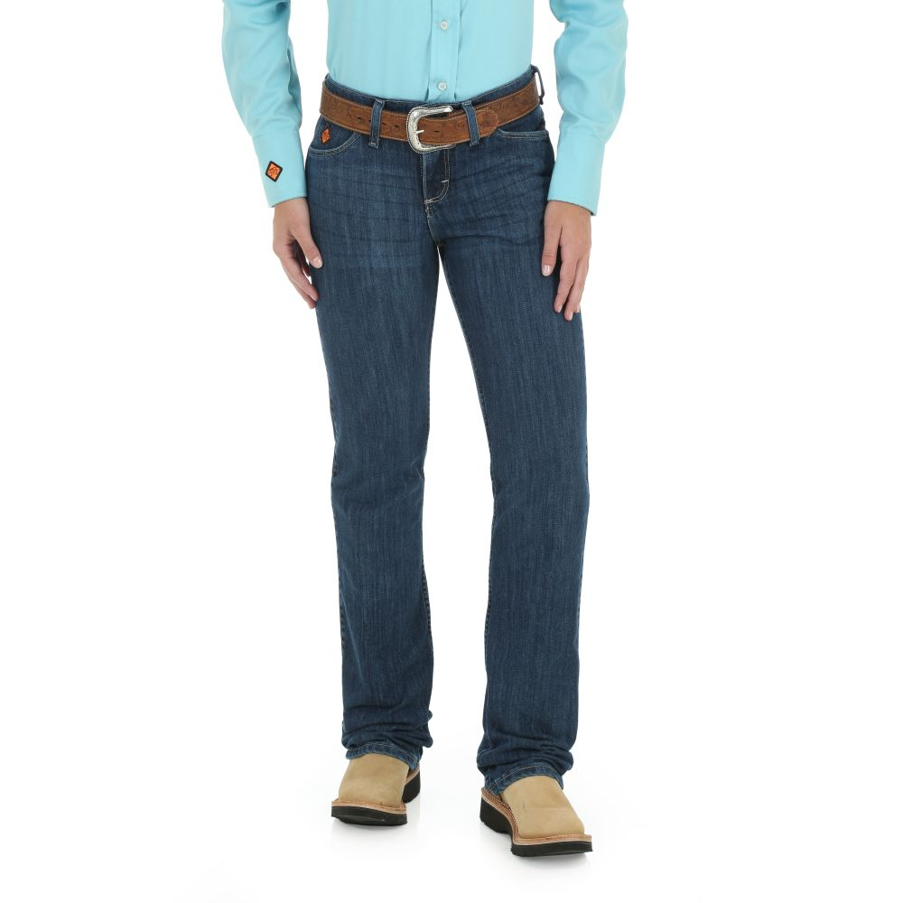 Wrangler Ladies FR Mid Rise Boot Cut Jeans Style FRW10MS