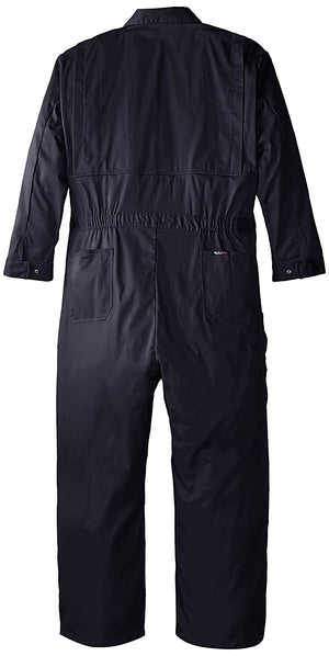 Walls Men's Flame Resistant Vent Back Coverall, Navy