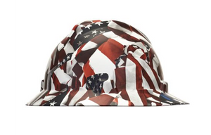 MSA 10204780 ONE NATION V-GARD HYDRO DIP HARD HAT WITH FAST TRAC III