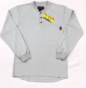 Blue Collar FR Henley - Lt. Grey