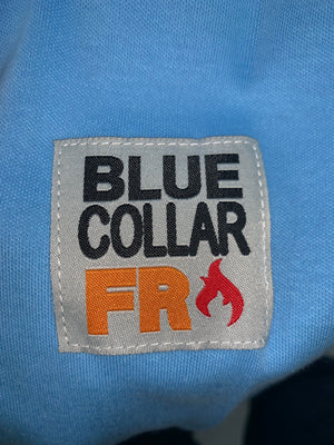 Blue Collar FR Henley - Lt. Blue