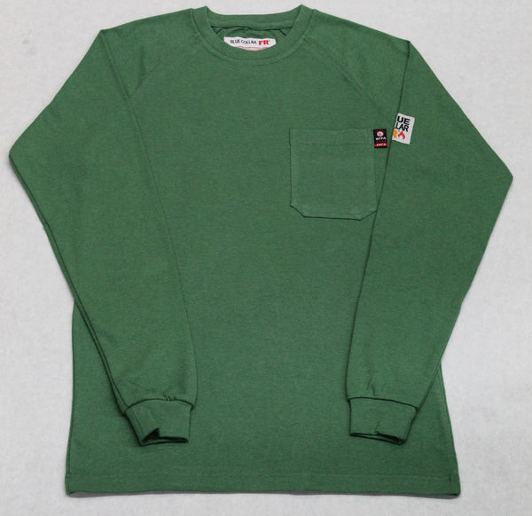 Blue Collar FR T-Shirt - Hunter Green Heathered