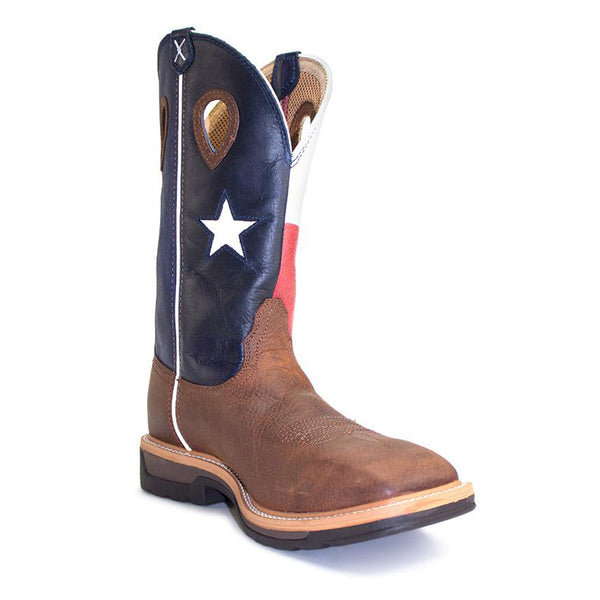 Twisted-X Lite Cowboy Texas Flag Lite Weight Work Boots