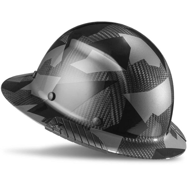 Lift Safety Dax Carbon Fiber Full Brim Hard Hat Black Camo HDC-20CK