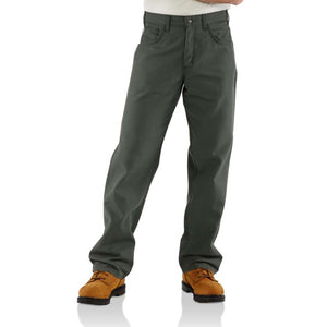 Men's Carhartt FR Original Loose Fit Midweight Canvas Pants - Moss