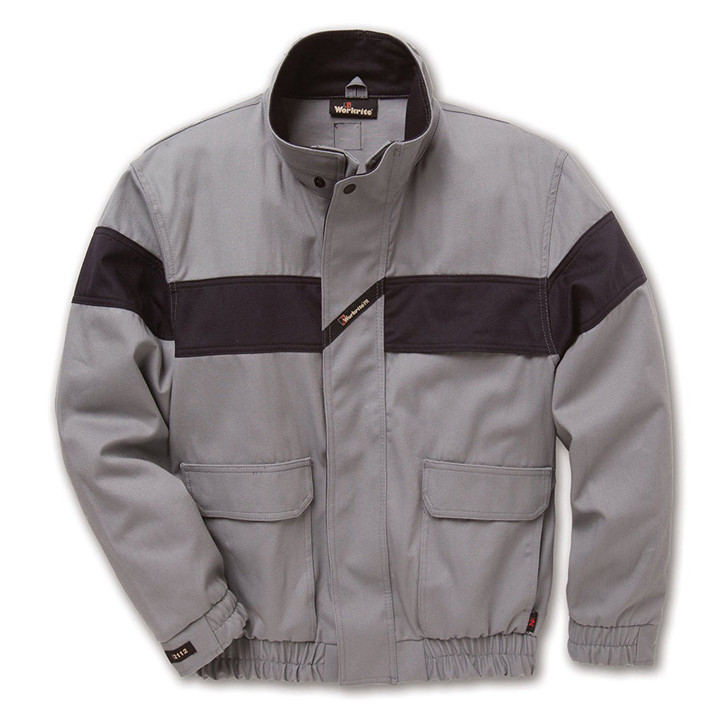 Workrite FR  UltraSoft Bomber Non-Insulated Jacket - Grey
