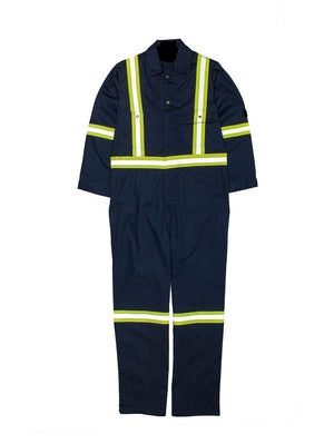 Flame Resistant FR HI visibility coveralls Navy
