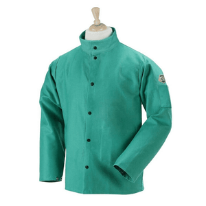 Black Stallion F9-30C FR Cotton Welding Jacket, Green
