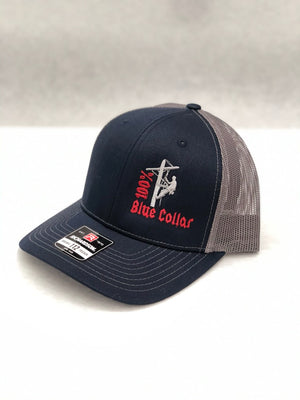 100% Blue Collar Line Man Hats