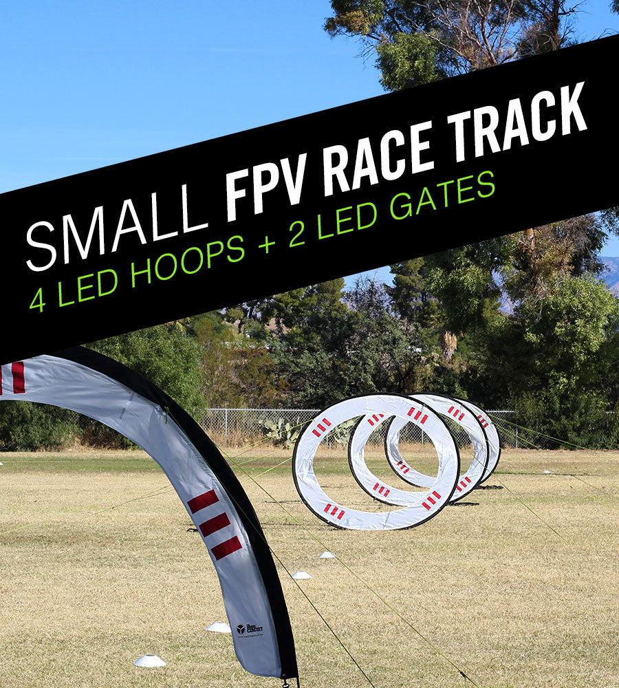 Small LED FPV Race Track Kit  - Drone Racing Gates and Drone Racing Hoops