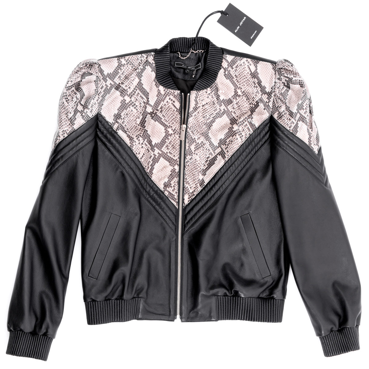 LEATHER BOMBER JACKET CON VIBORA