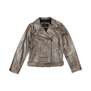 Silver Rose Leather Jacket