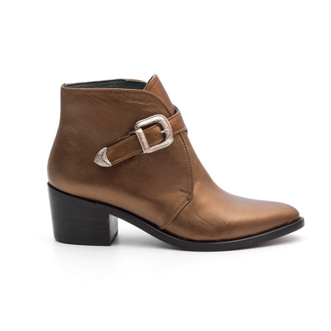 Side Buckle Boot Gold