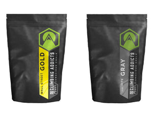 2 Pack Bundle - Gold | Gray Climbing Chalk
