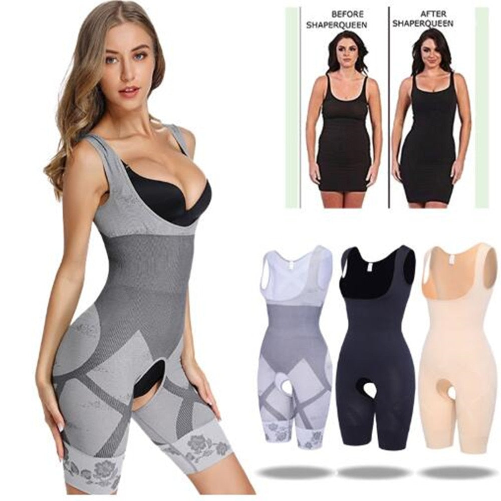 Women's Full Body Slimming Underwear Bodysuit Body Shaper Waist Shaper Shapewear Postpartum Recovery Slimming Shaper