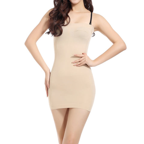 Women Chest Breast Binder Control Slips Shapers Seamless Strapless Corset High Stretchy Mini Sheath Body Tube Dress Shapewear
