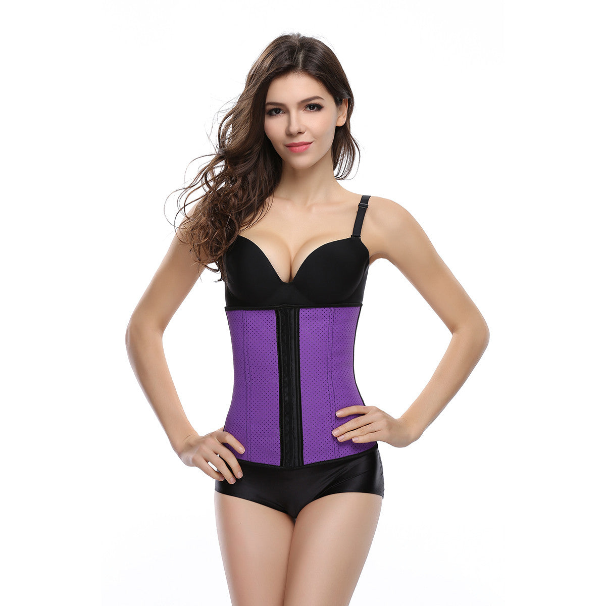 Women Breathable Holes Thin Underbust Corset Waist Trainer Cincher Body Shaper Shapewear