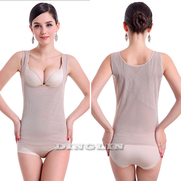 GZDL New Women Shapewear Underbust Waist Corsets Bustier Slimming Body Hot Shapers Control Tops Vest Free Shipping CR5547