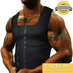 New Hot Men's Slimming Neoprene Vest Sweat Shirt Body Shaper Waist Trainer Shapewear Abdomen Fat Burning Shaperwears Shapers