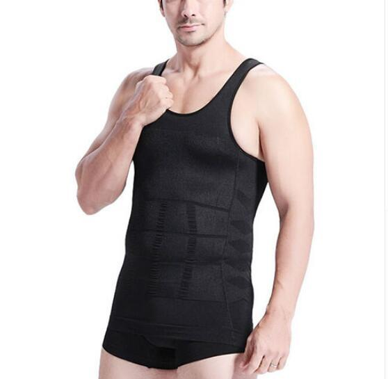 Men's Slimming Body Shapewear Corset Vest Shirt Compression Abdomen Tummy Belly Control Slim Waist Underwear Waist Girdle Shirts