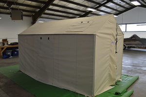 Canvas Tent Being Setup In Our Shop Before Shipping