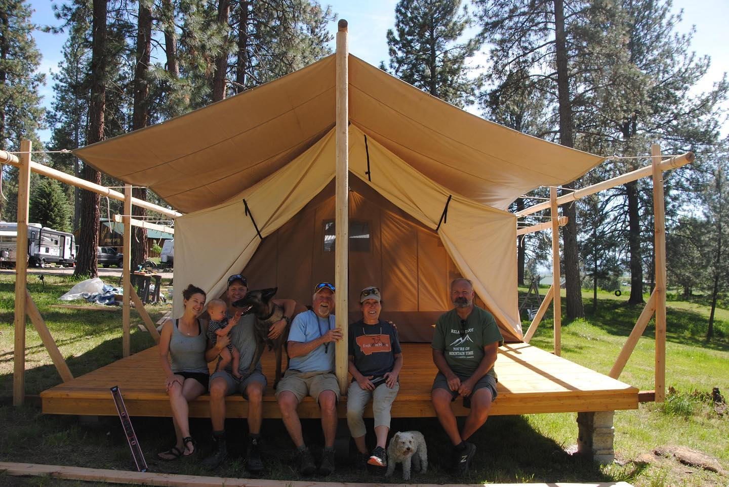 Glamping Tent - Tent Fly - Tent Porch - Porch - Tent Platform