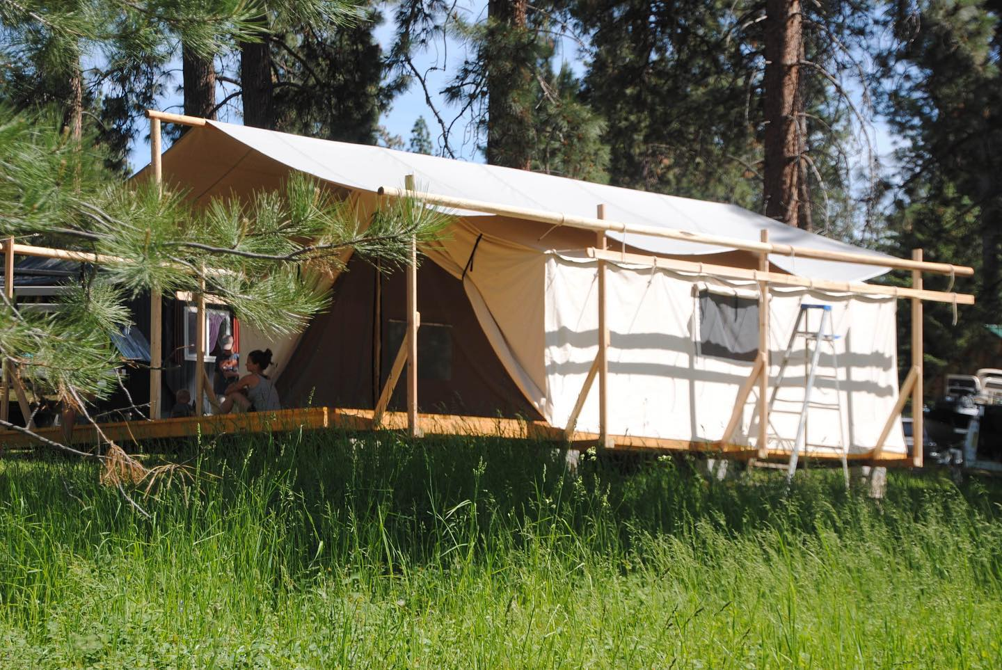 Glamping Tent - Tent Platform - Tent Fly - Canvas Camping Tent