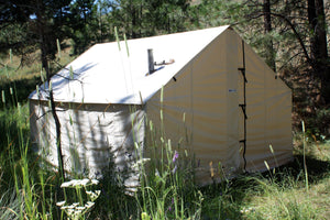 Tent Door - Canvas Tent Door - Stove